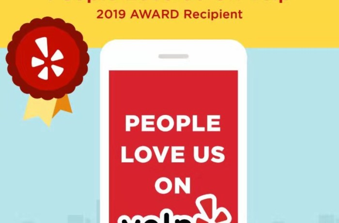 Congratulations from Yelp